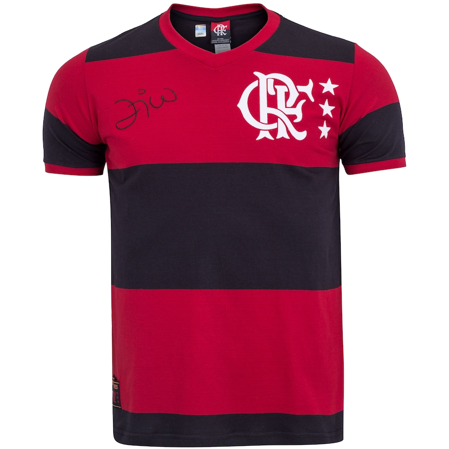 Camiseta do Flamengo Zico Braziline - Masculina 51badb4d85bb0