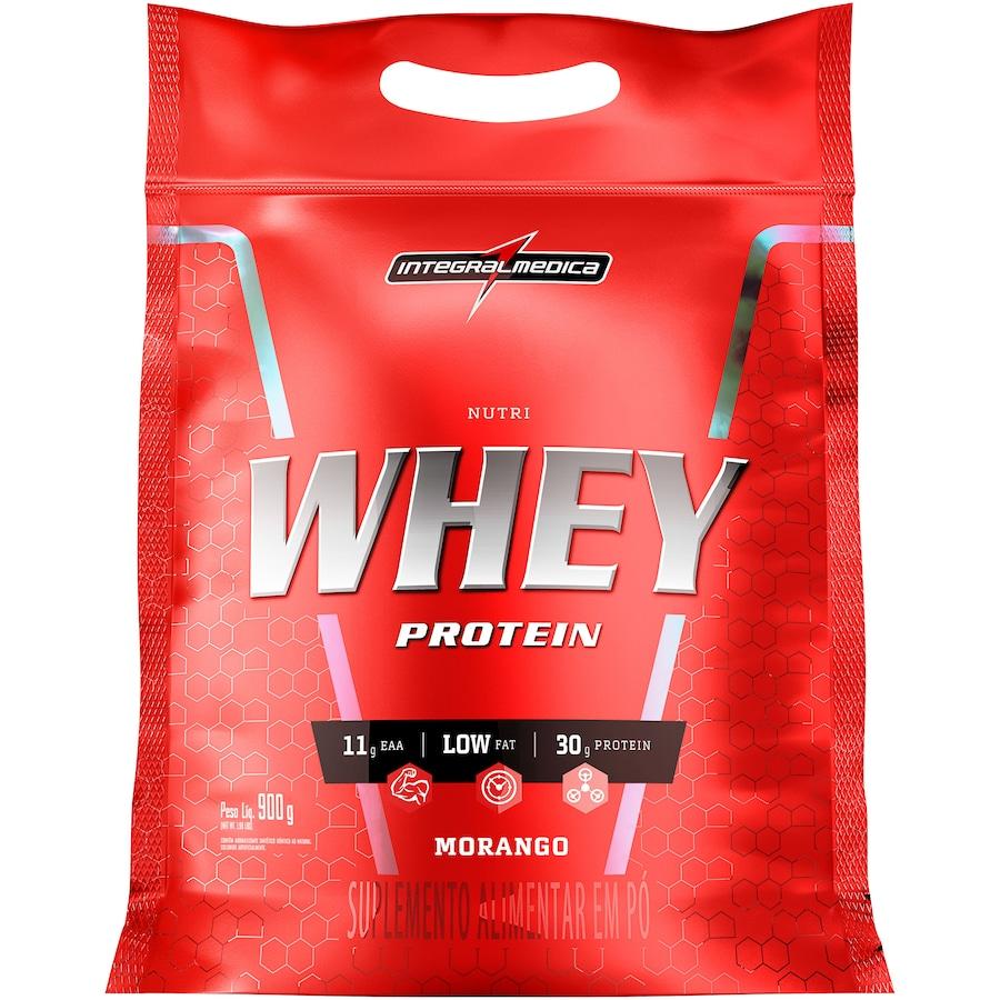 542b8c935 Nutri Whey Protein Integralmédica - Morango - Refil 907g
