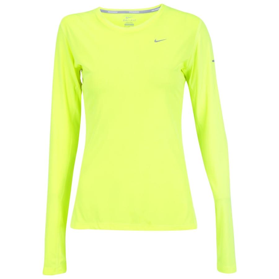 Camiseta Manga Longa Nike Miler Feminina 1550cfac75833