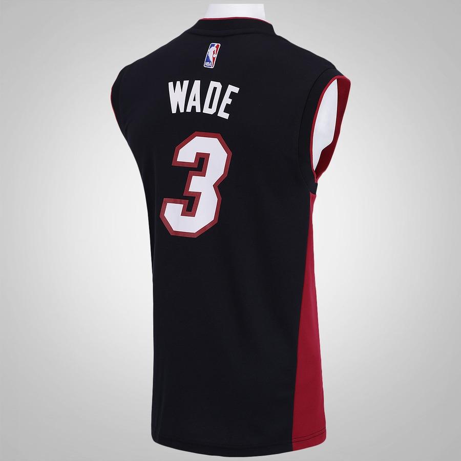 ... Camiseta Regata adidas NBA Miami Heat Road Wade - Masculina e90d72ee4562b