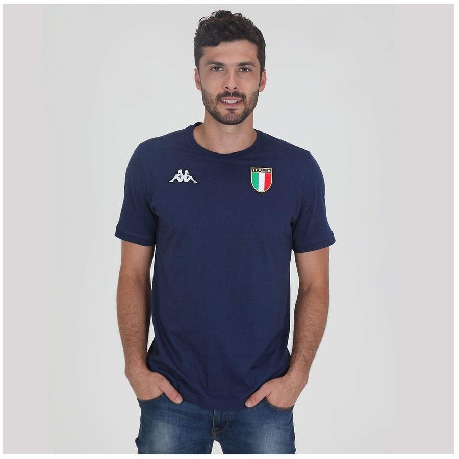 Camiseta Kappa Itália Sanak Masculina e78f42abc540e