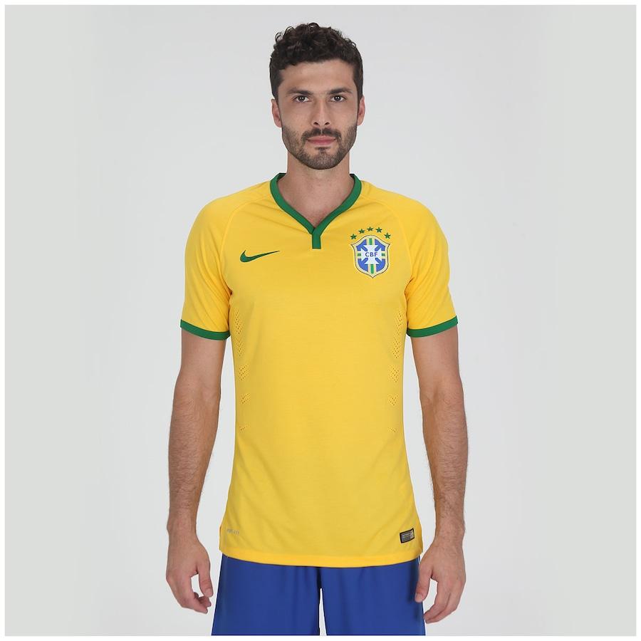 Camisa do Brasil Amarela Nike Jogador 2014 s n° Masculina 5bec8f1d22c04