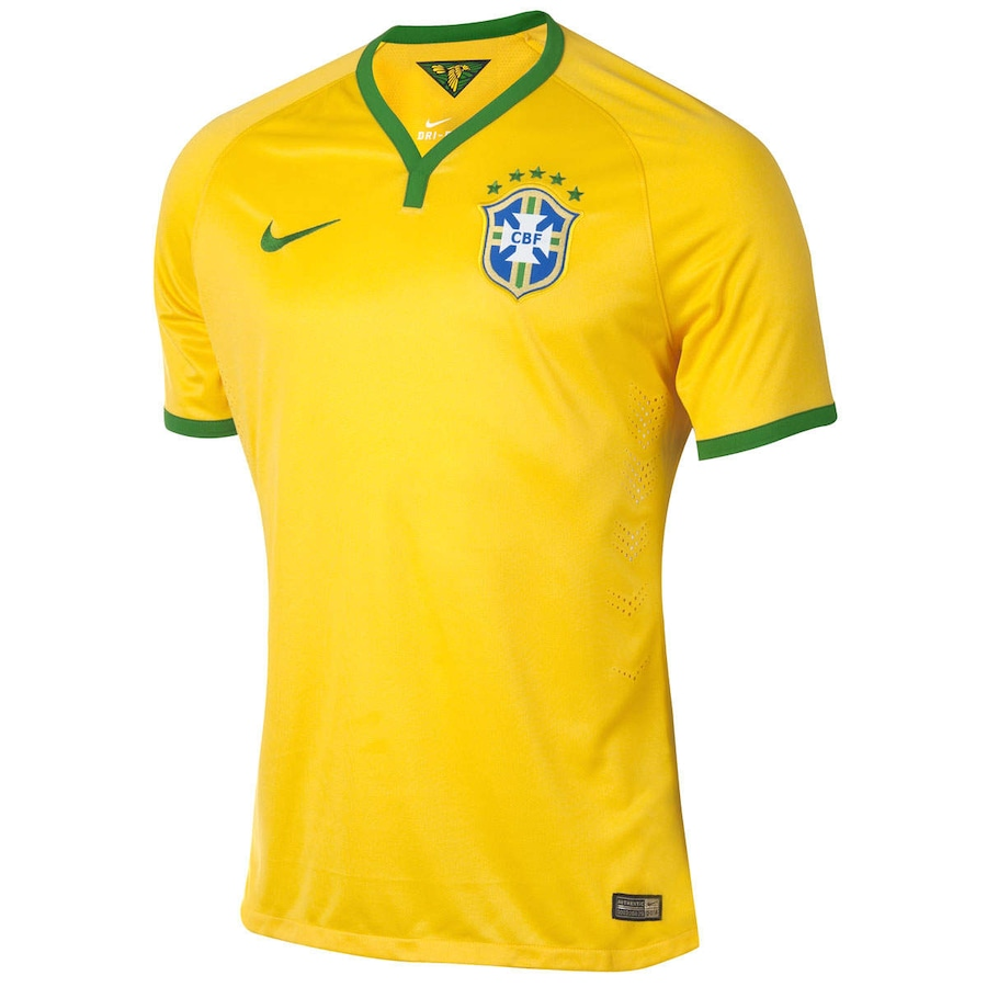 Camisa do Brasil Amarela Nike Jogador 2014 s n° Masculina dd69f05a387db