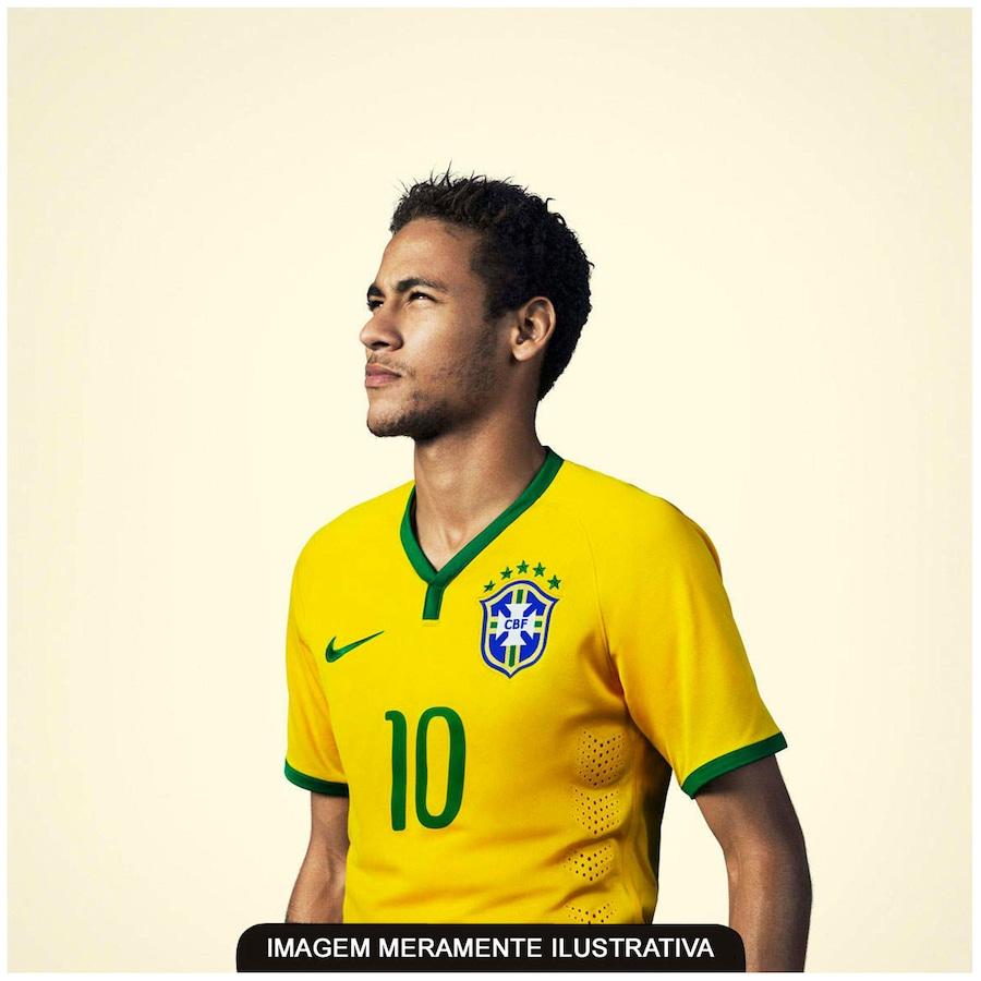 Camisa do Brasil Amarela Nike Torcedor 2014 s n° Juvenil f4224b34d091c