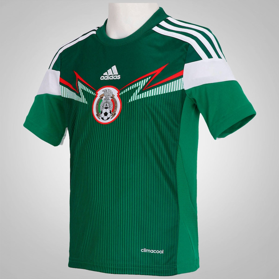 ... Camisa do México I 2014 adidas - Infantil ... c5084de5f59e3