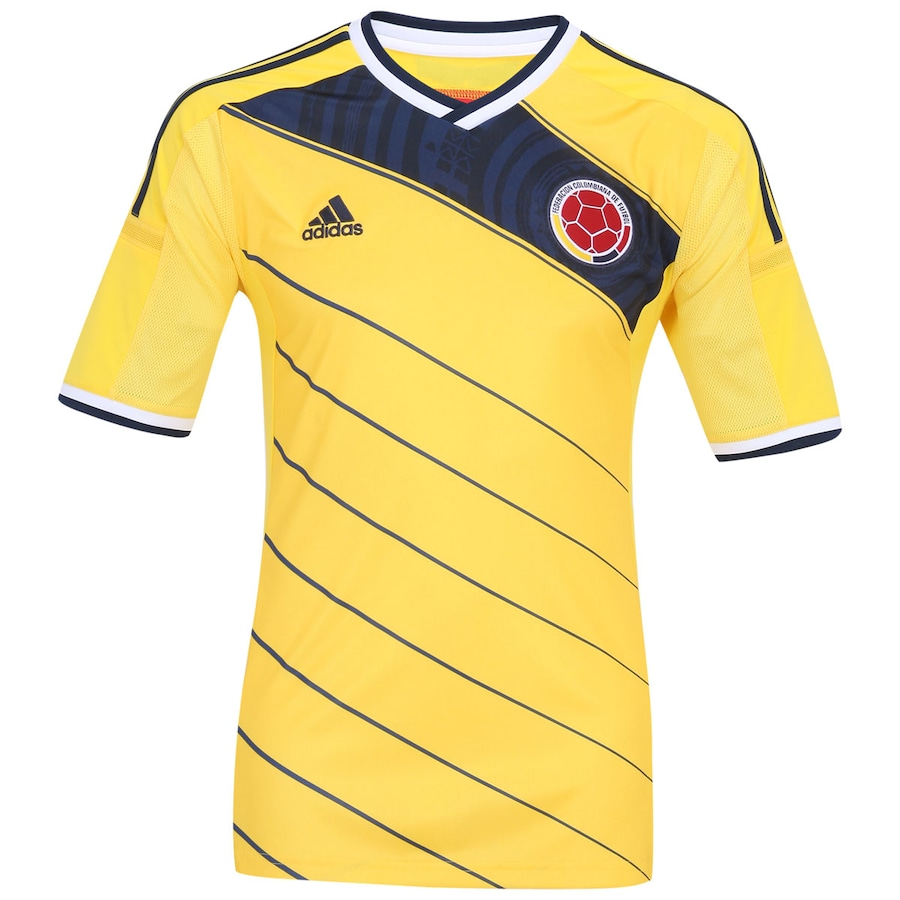 60d7af1a42551 Camisa Adidas Colômbia Home 2014 Masculina