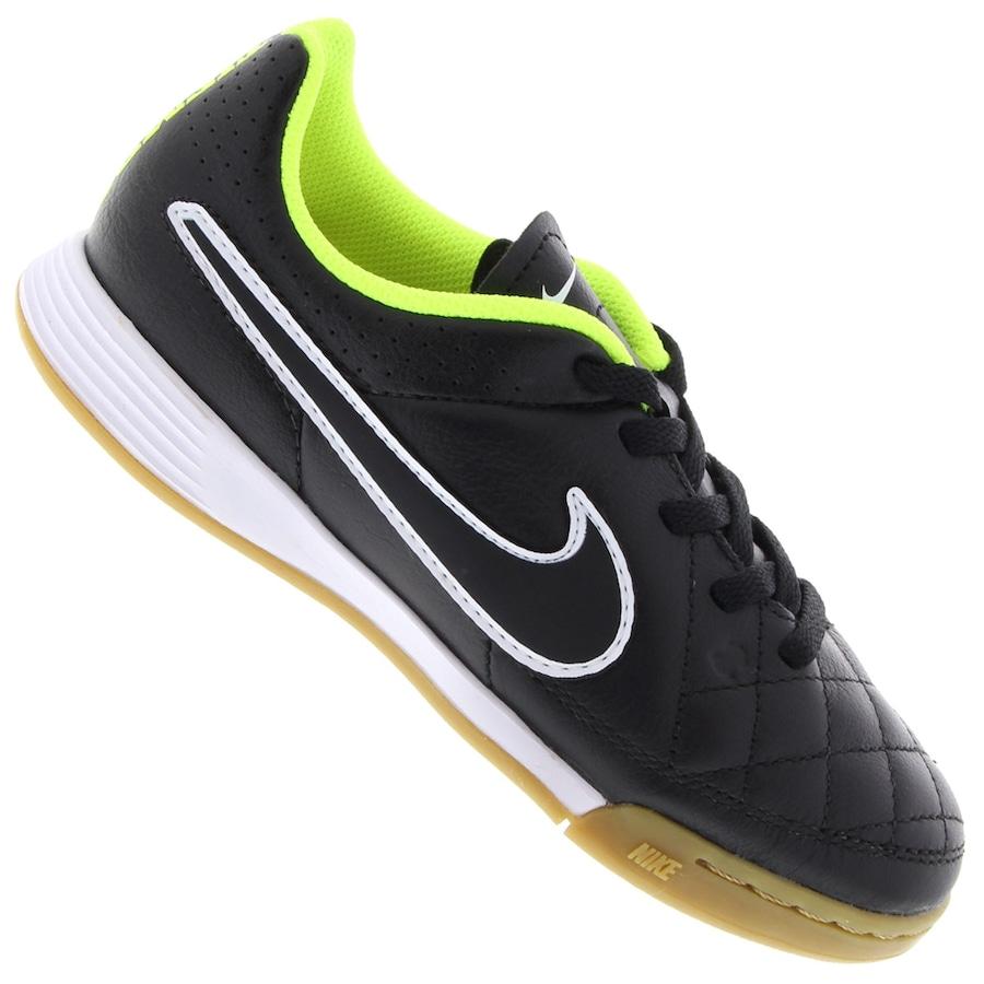 Chuteira de Futsal Nike Tiempo Genio Leather IC Infantil 0eab521bab426