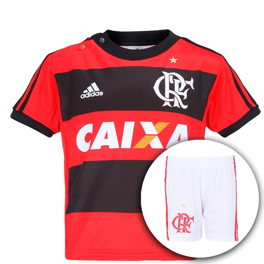 21e614a64e Kit Uniforme Adidas Flamengo I 2014 Bebê