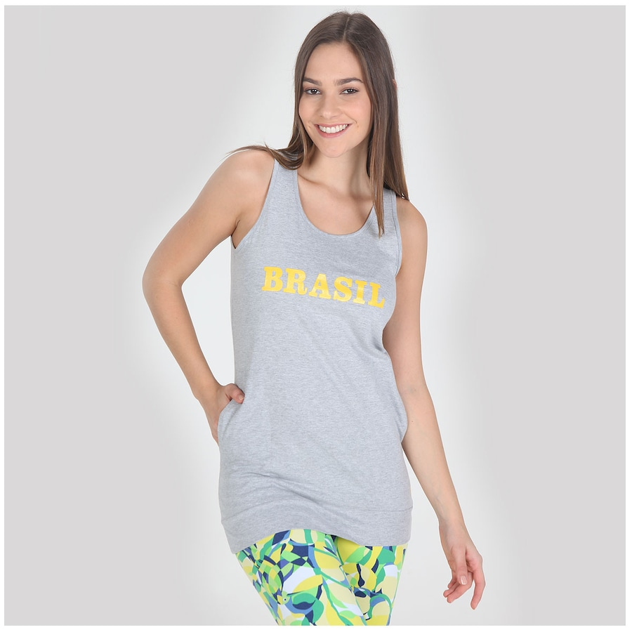 Camiseta Regata Oxer Longa Feminina 56314a20c12