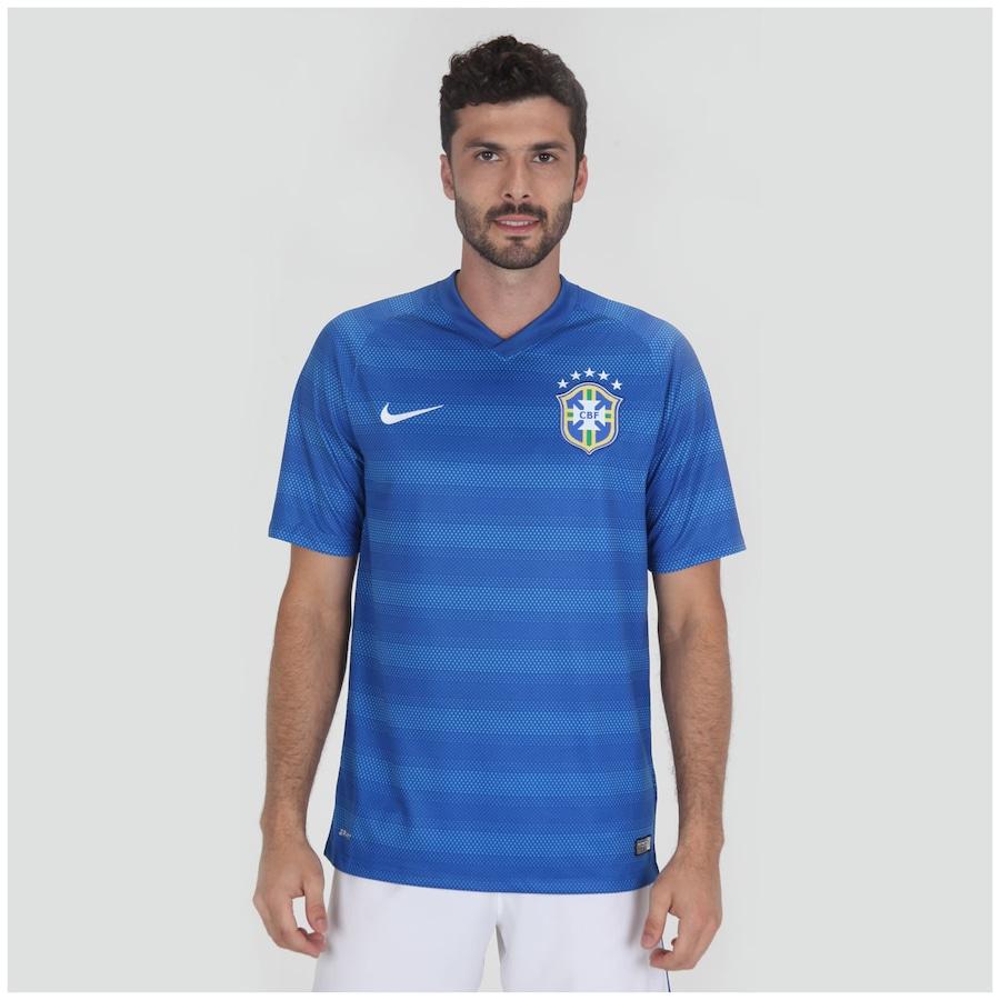 6875a2961 Camisa do Brasil Azul Nike Torcedor 2014 s n° Masculina