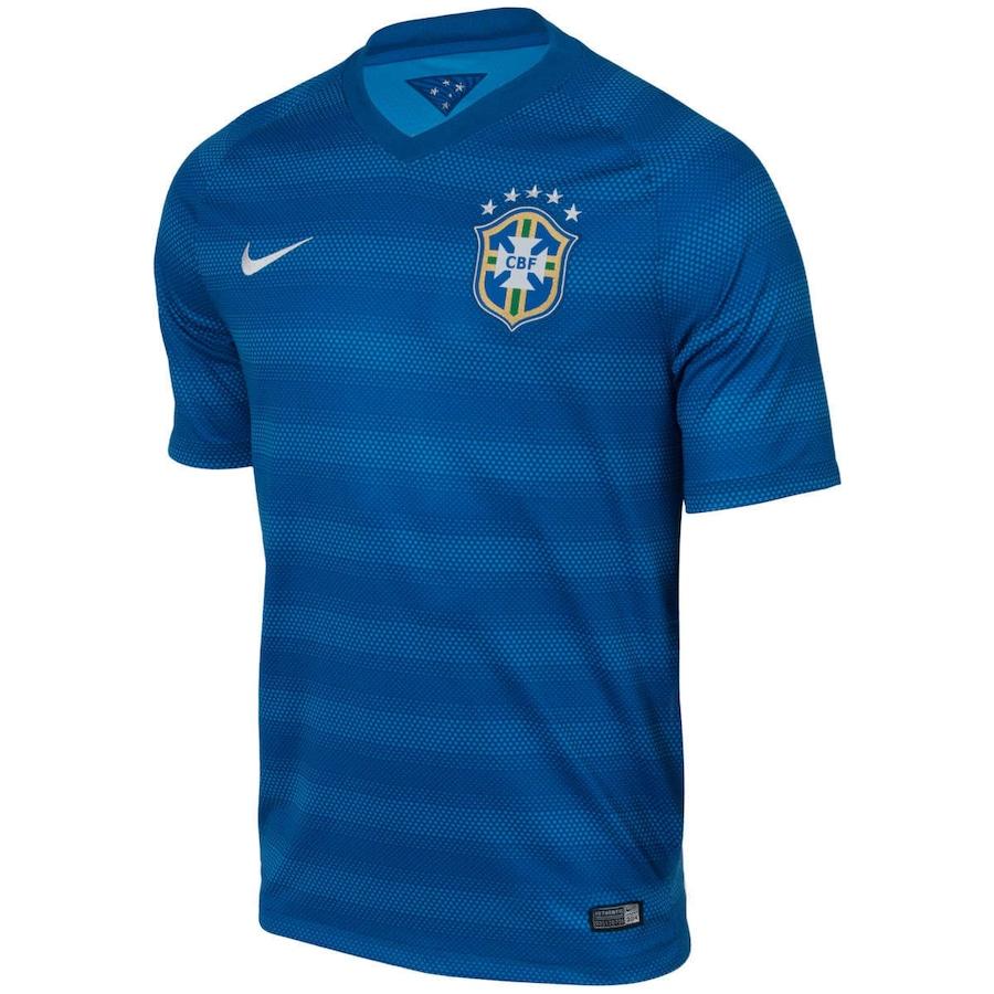 Camisa do Brasil Azul Nike Torcedor 2014 s n° Masculina 7553fb2f68067
