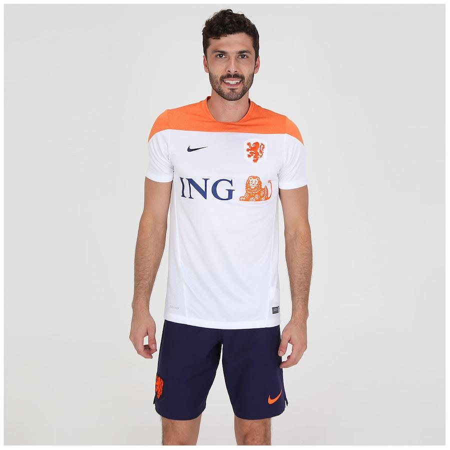 Camisa Nike Holanda Squad Treino Masculina 1672a8ae3deff