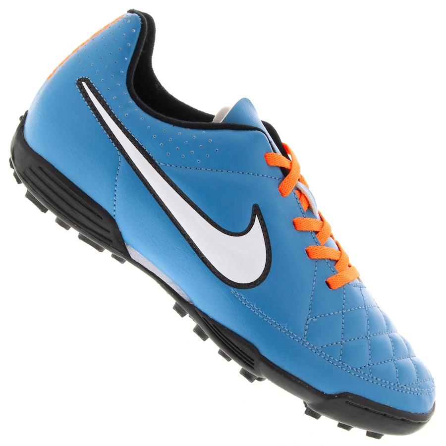 Chuteira Society Nike Tiempo Rio II TF - Infantil 6bf7bdf748a36