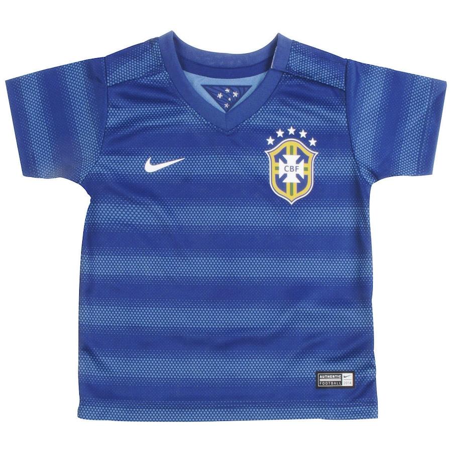 af5d1ef9dfdd7 Camisa do Brasil Azul Nike Torcedor 2014 s n° Baby
