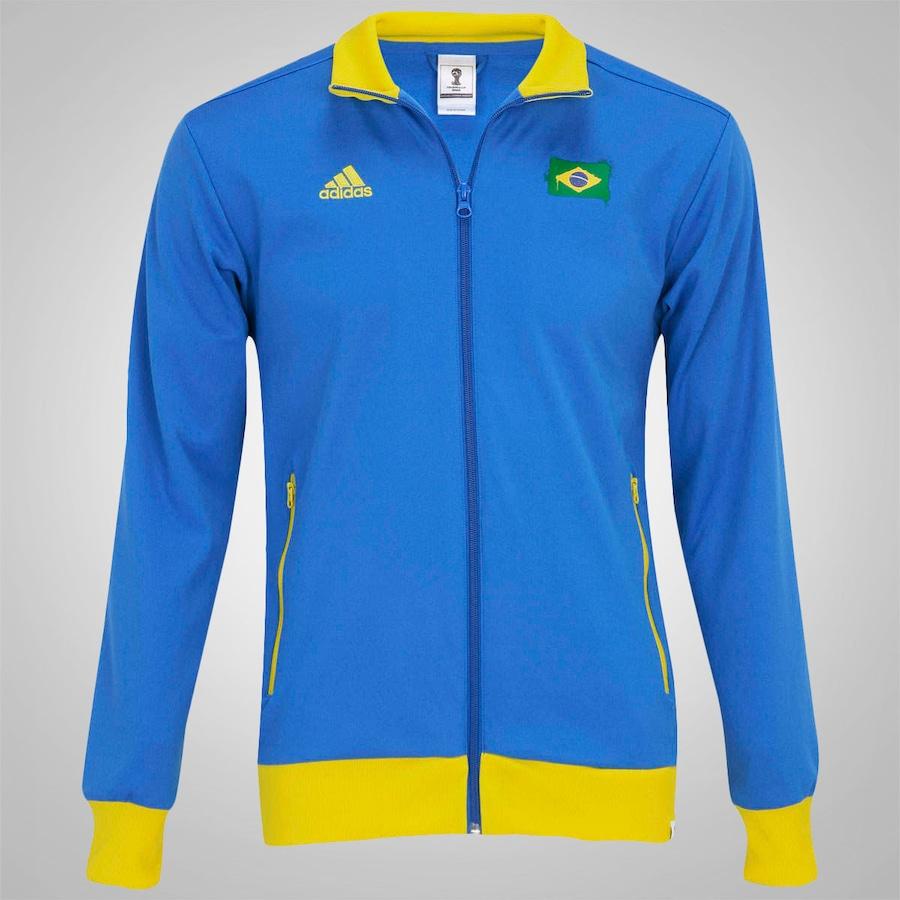 Jaqueta Adidas Brasil World Cup Masculina 56ae16ebdd6