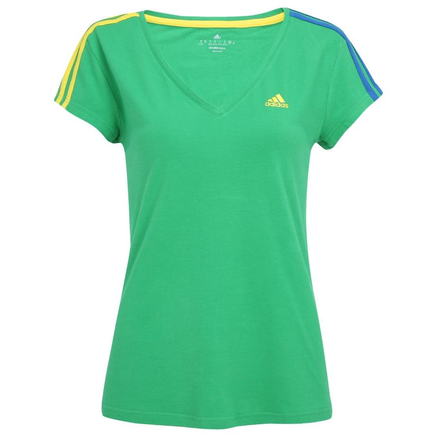 8d4a09bf1d Camiseta Adidas WC14 Ess 3s Brasil Feminina