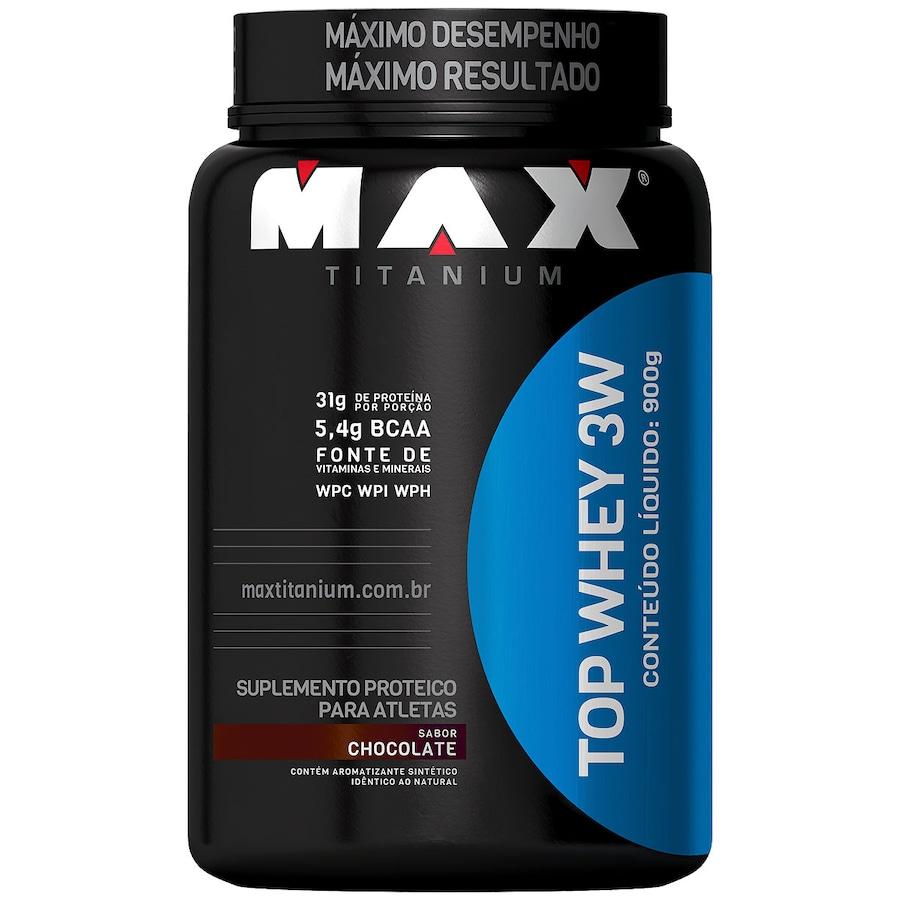 08f875c72 Whey Protein 3W Max Titanium Top Whey 3W - Chocolate - 900g