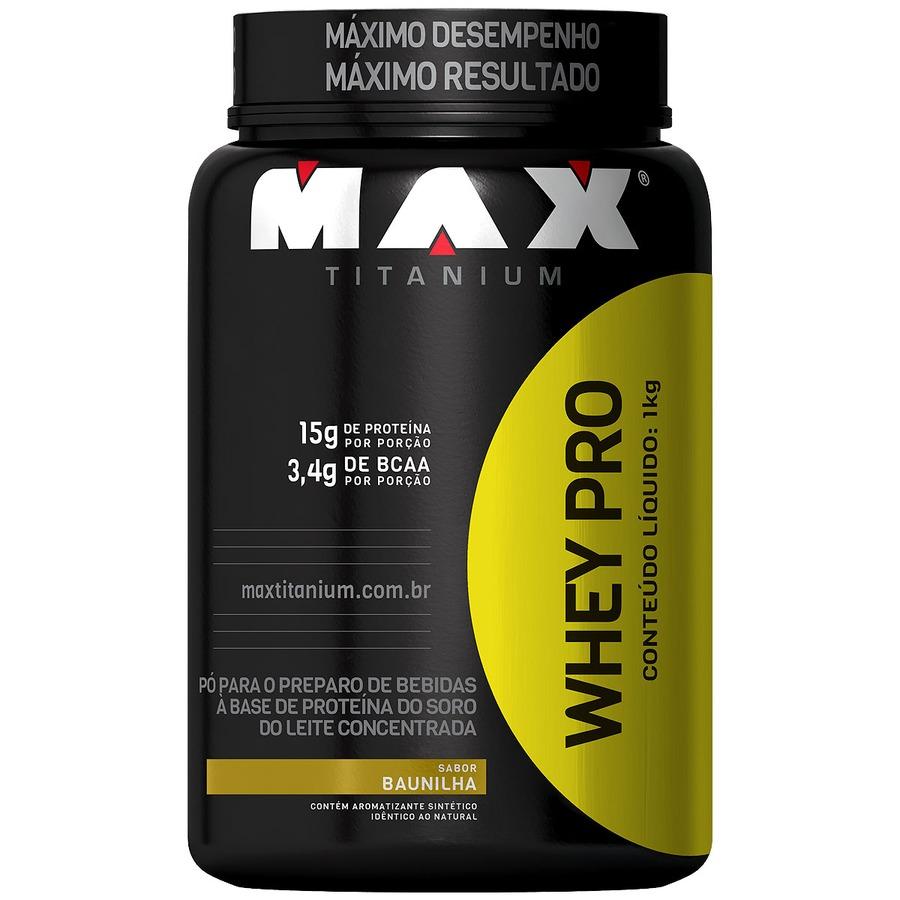 Whey Protein Max Titanium Baunilha - 1Kg