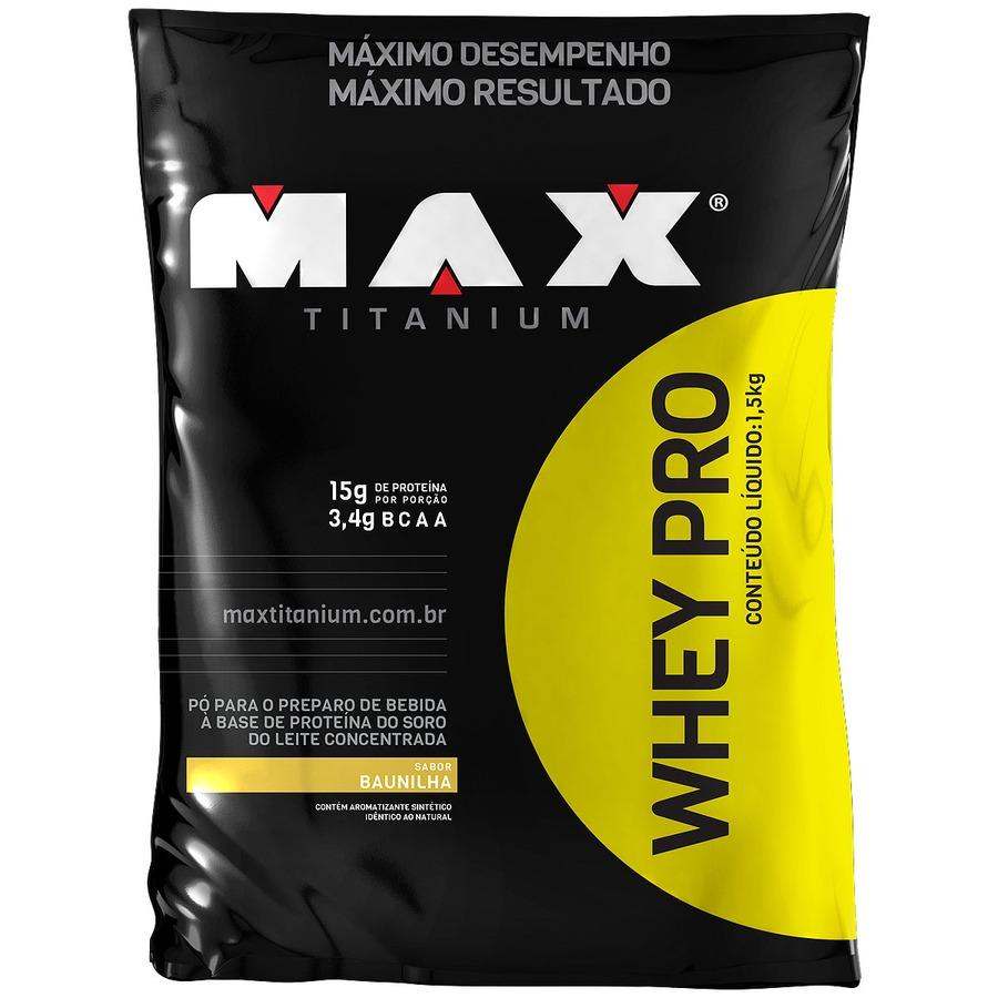 Whey Protein Max Titanium Baunilha Refil - 1,5Kg