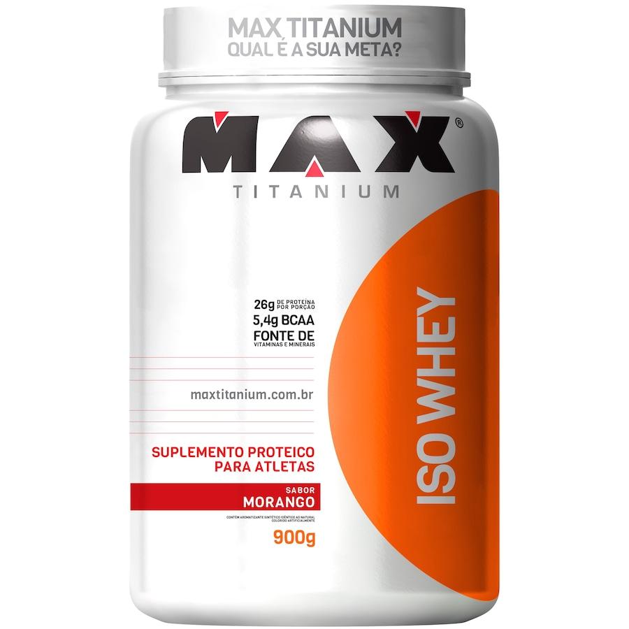 Whey Protein Max Titanium Morango ISO - 900g