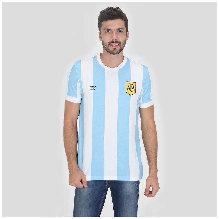 Camisa Adidas Argentina Retrô Masculina 1337a16dbb737