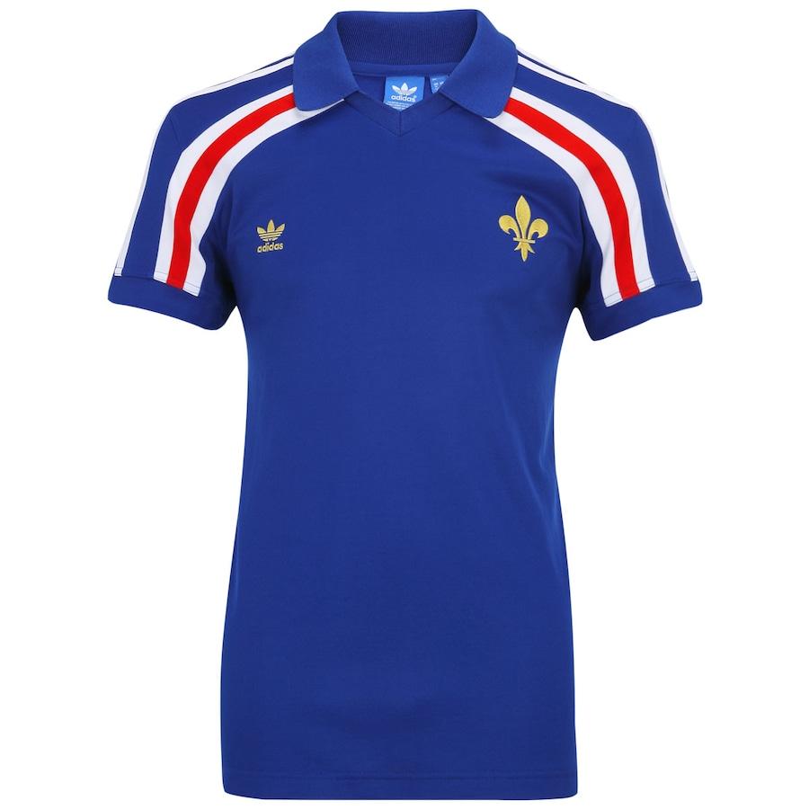 Camisa Adidas França Retrô - Masculina 026e4f23dfb83