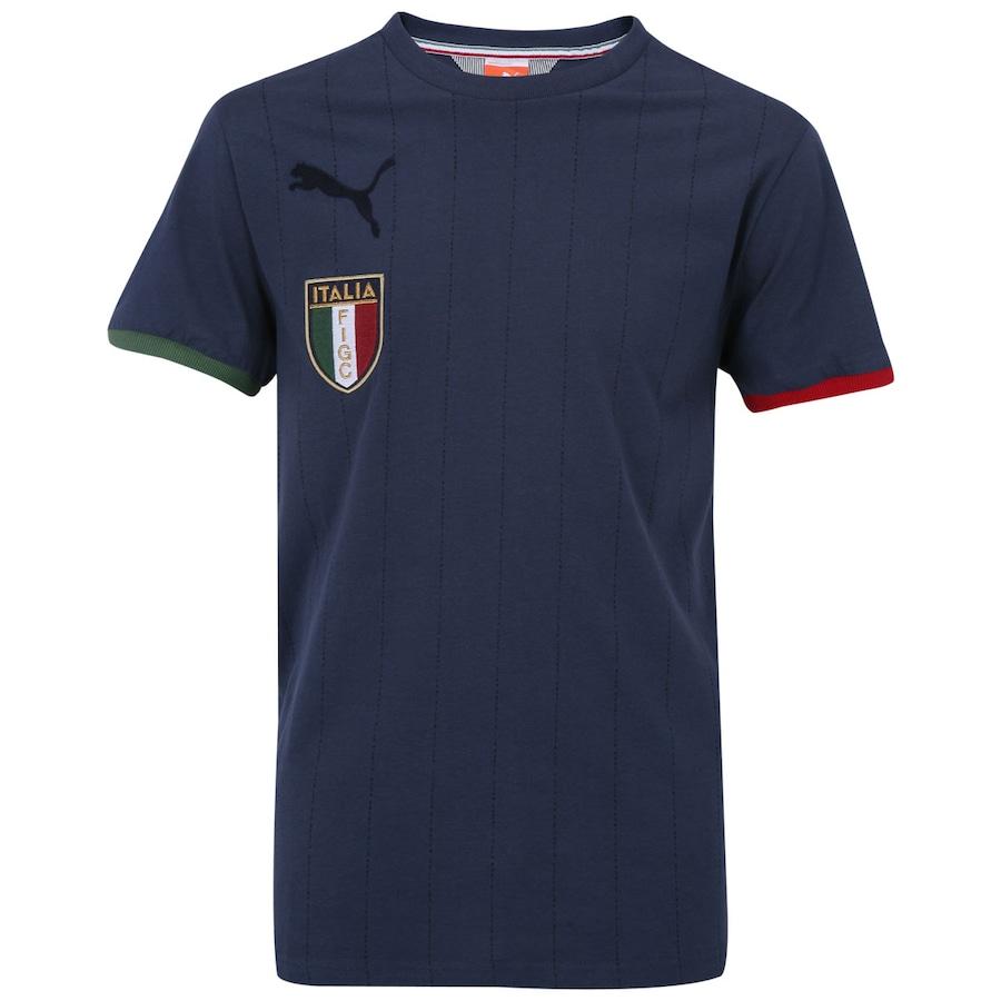 Camiseta Itália Puma Badge - Masculina b29eb0a3db036