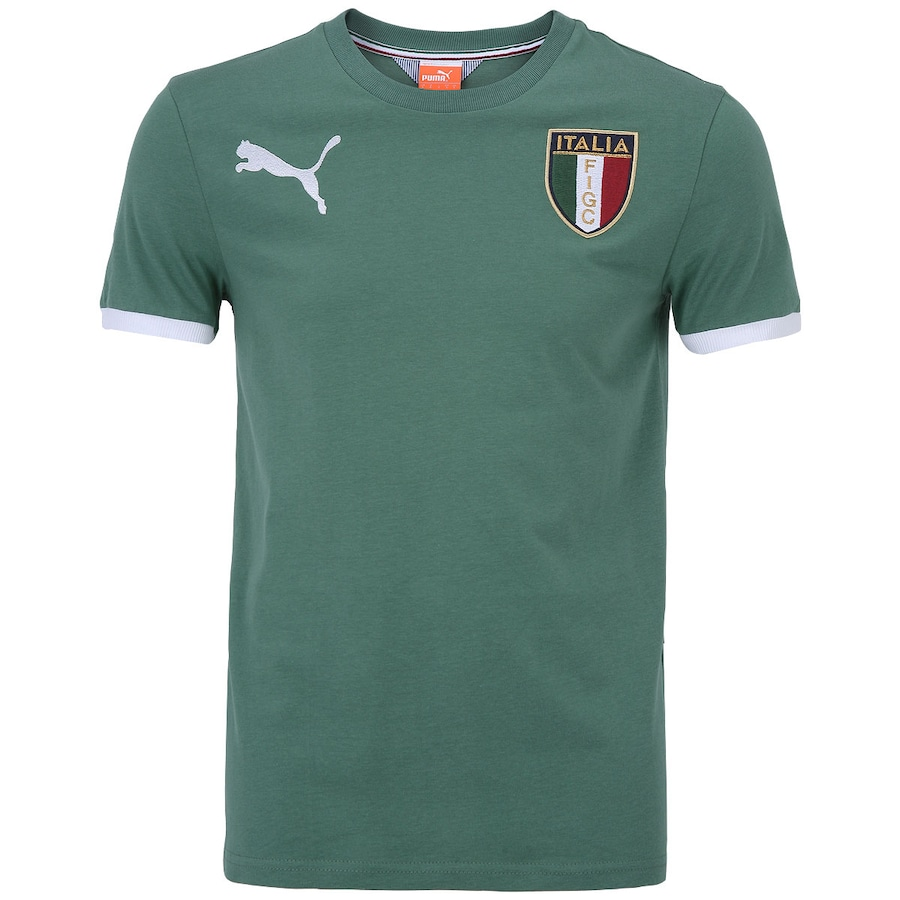 b7518360469c9 Camiseta Itália Puma Badge FIGC - Masculina