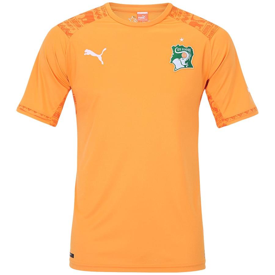 Camisa Puma Seleção Costa do Marfim I s n 2014 Torcedor be5c86332ed69
