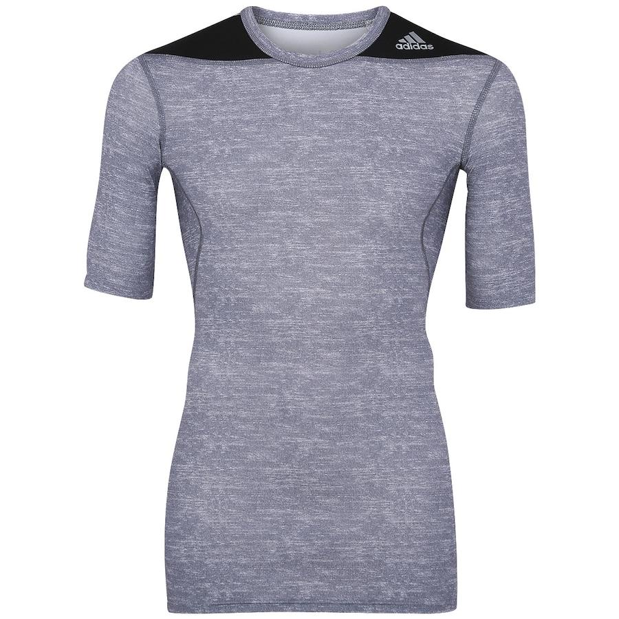 Camisa de Compressão adidas TechFit Base Masculina c610766e8504e