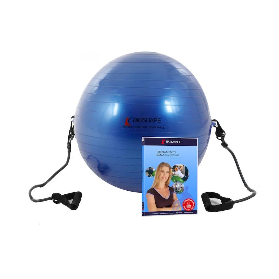 291f33d1b4c58 ... Bola de Pilates Suiça 65cm Bioshape com DVD de Treinamento Bola com  Alças de Ivana ...