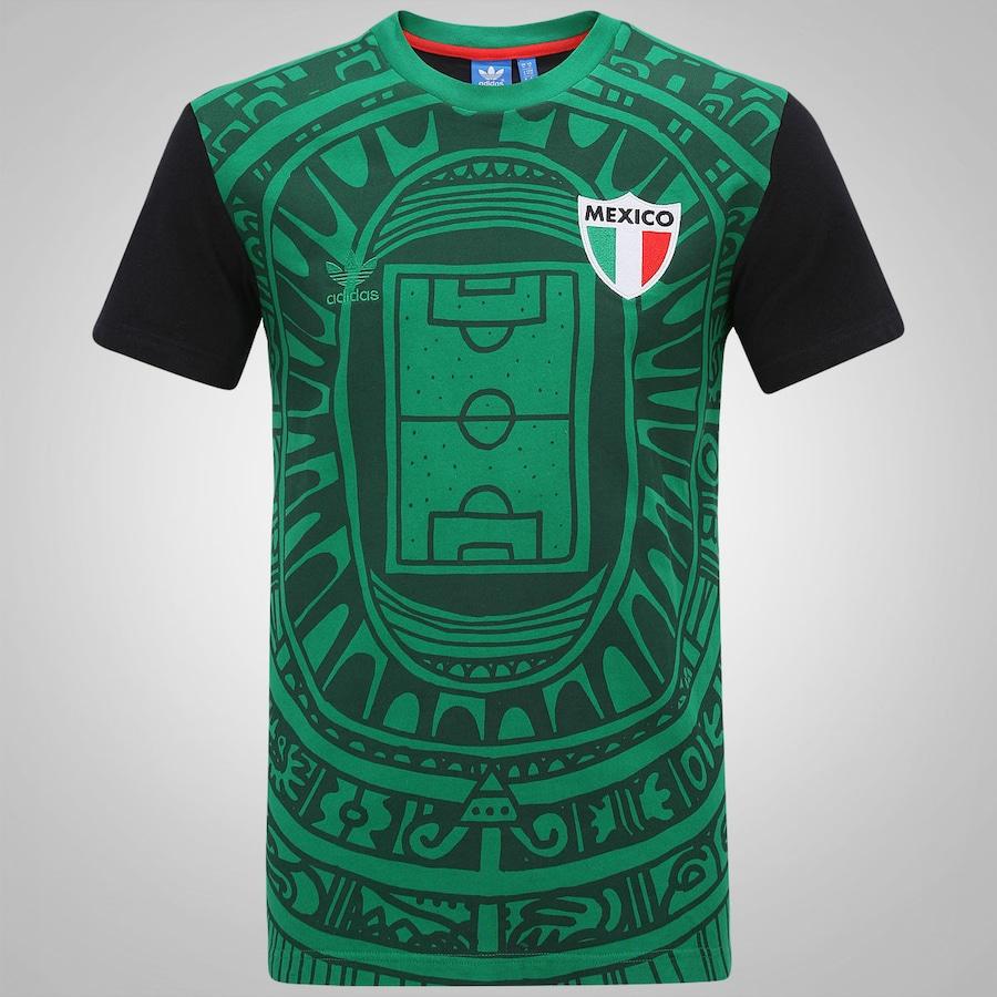 Camiseta Adidas México Retrô – Masculina 077aed7370776