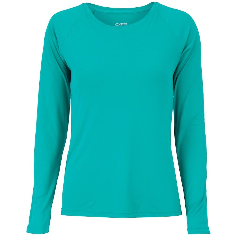 cbf524b1806e9 Camiseta Manga Longa com Proteção Solar UV50+ Oxer Custom - Feminina.  undefined