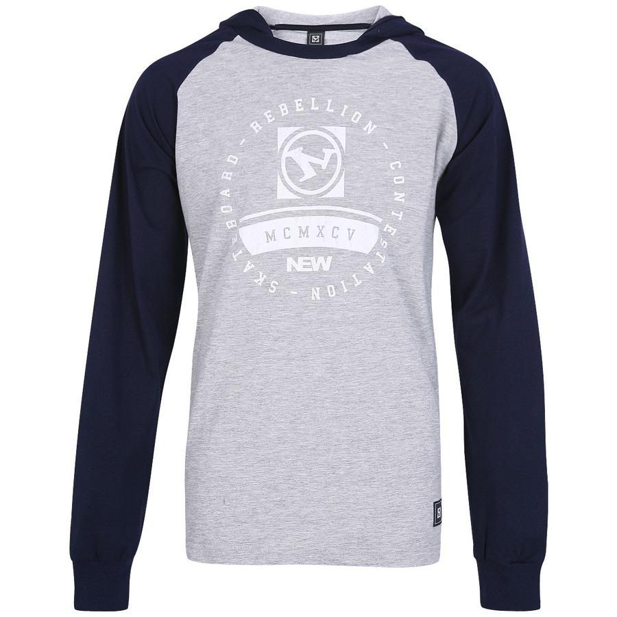 Camiseta Manga Longa New Skate Ess Com Capuz eb8e5cf6188