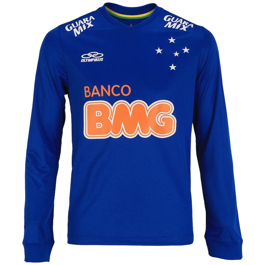 Camisa do Cruzeiro Manga Longa I 2014 nº10 Olympikus 6e65b46545b04