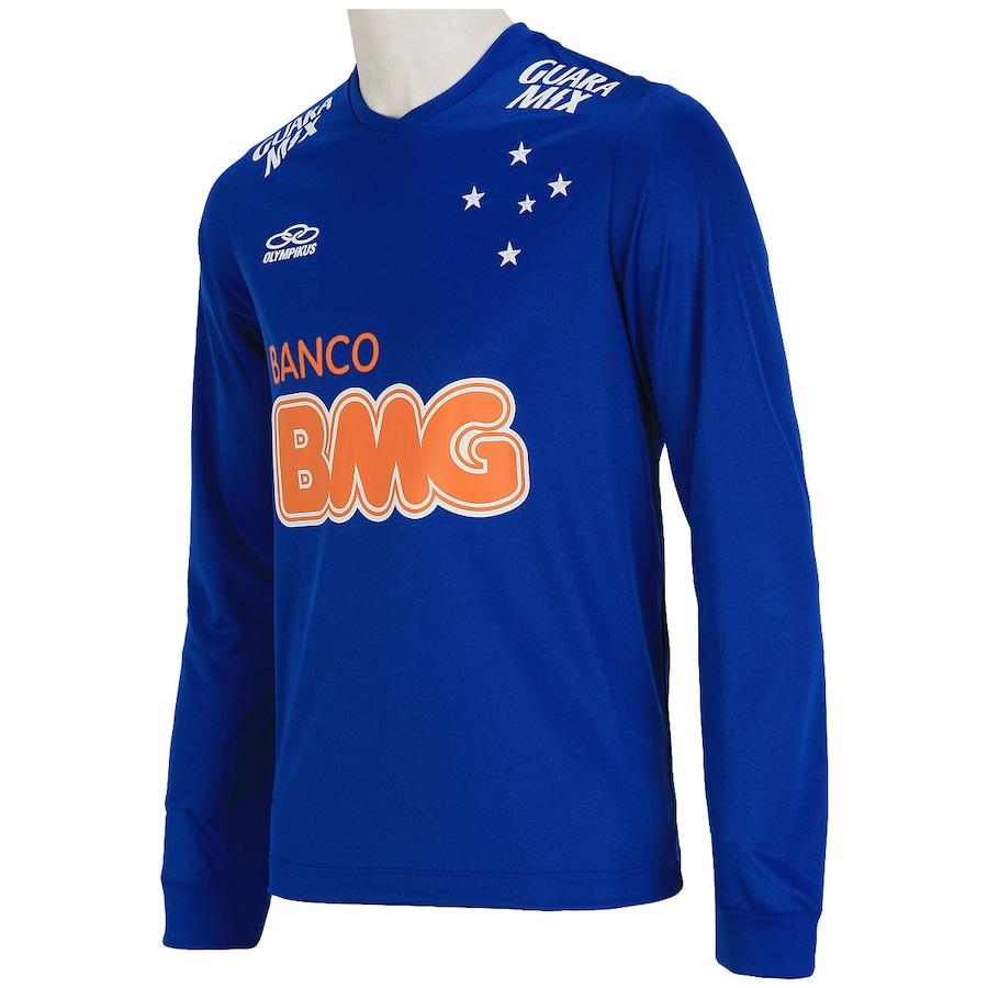 Camisa do Cruzeiro Manga Longa I 2014 nº10 Olympikus 27496def638f9