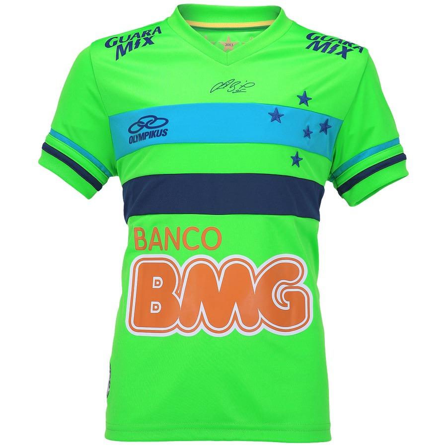 Camisa de Goleiro do Cruzeiro 2015 nº 1 Olympikus Infanti 227829a7f81f7