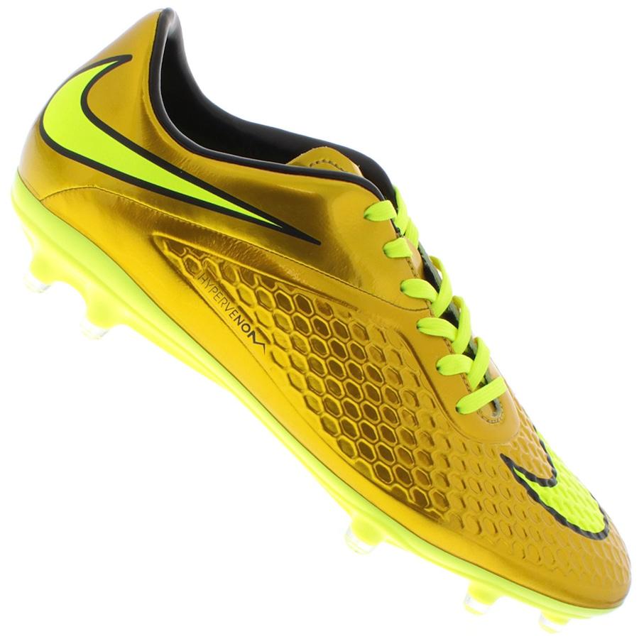 1d1fa73a0 Chuteira de Campo Nike Hypervenom Dourada Phelon FG
