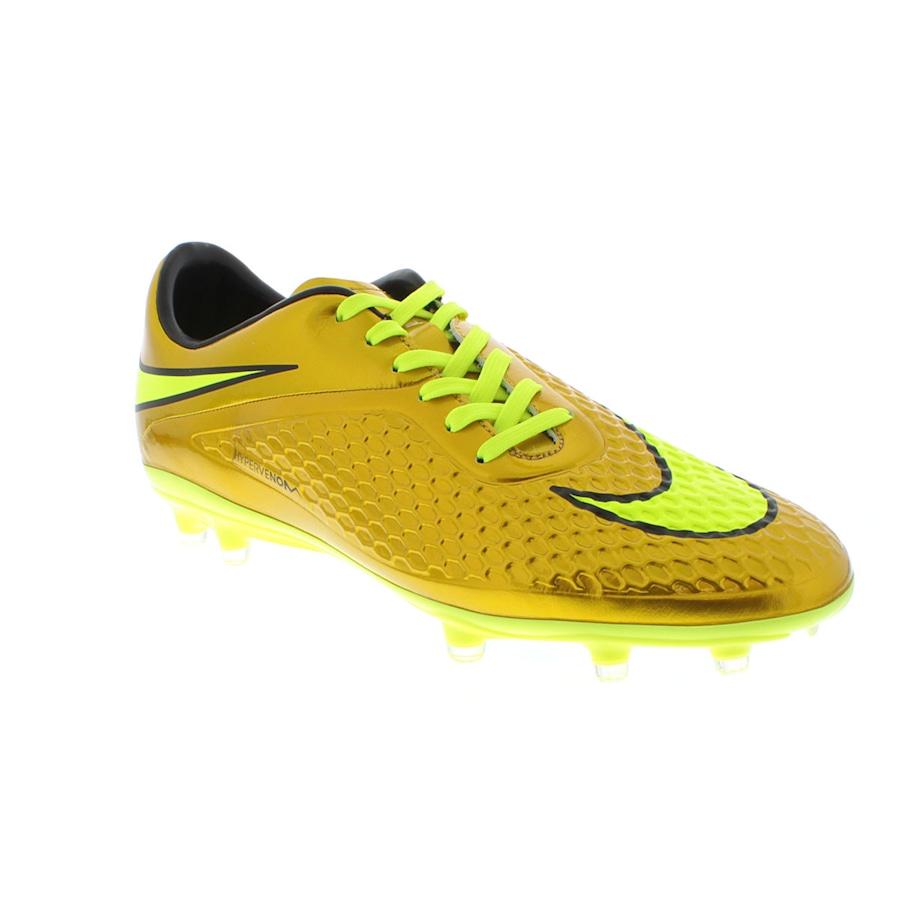 ae0f136064 Chuteira de Campo Nike Hypervenom Dourada Phelon FG