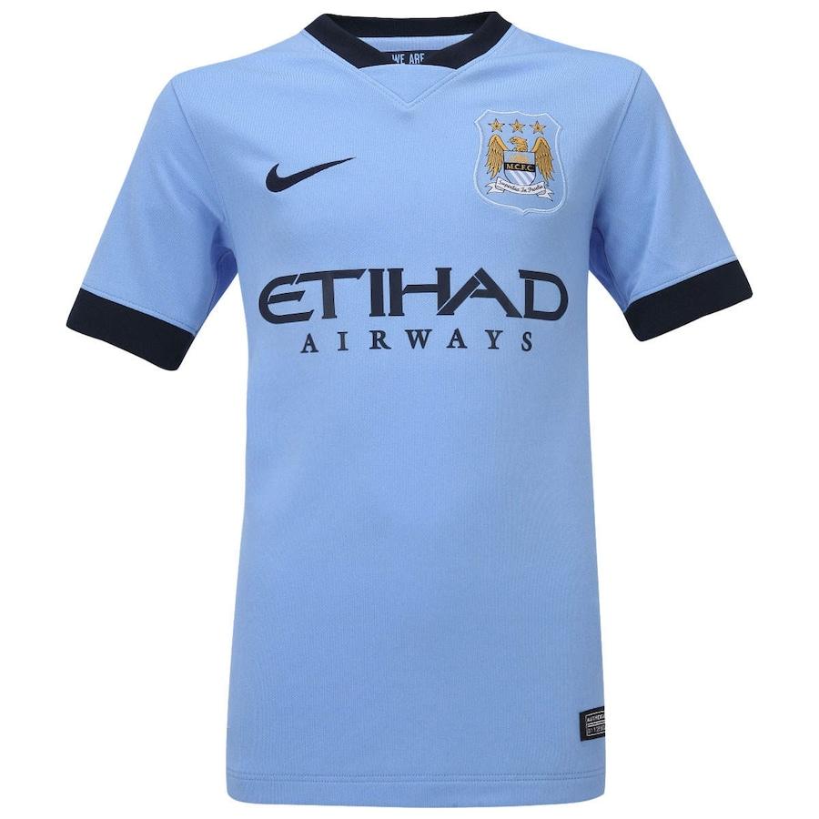 31a8950870 Camisa Nike Manchester City I 2014-2015 s nº Infantil