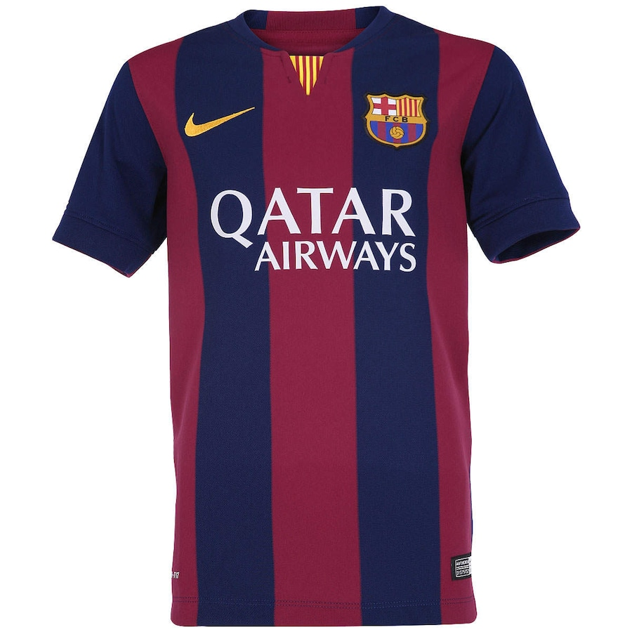 Camisa Nike Barcelona I 2014-2015 s  nº – Juvenil b6dd4b0c42d52
