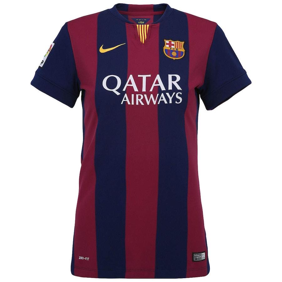 Camisa Nike Barcelona I 2014-2015 s  nº – Feminina 2fc44629ec26e