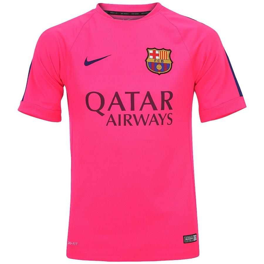 Camisa Barcelona Nike de Treino 2014 2015 FCB ed5c71fa2f5