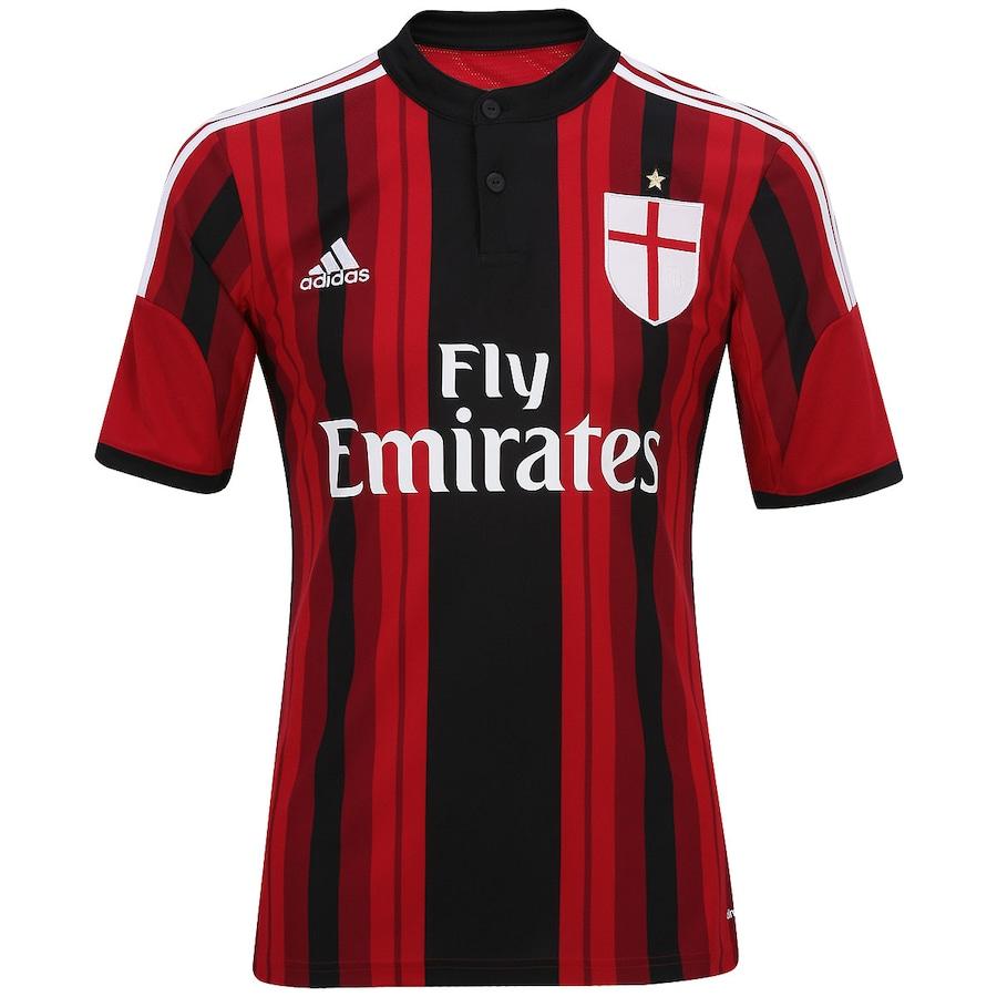 Camisa Adidas Milan I 2014-2015 s  nº 887620eba747f