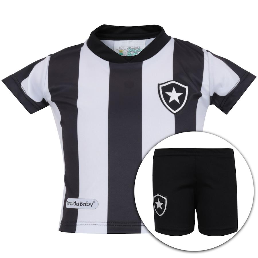 bc1fdbcc8eb Kit Uniforme Futebol Botafogo para Bebê - Infantil