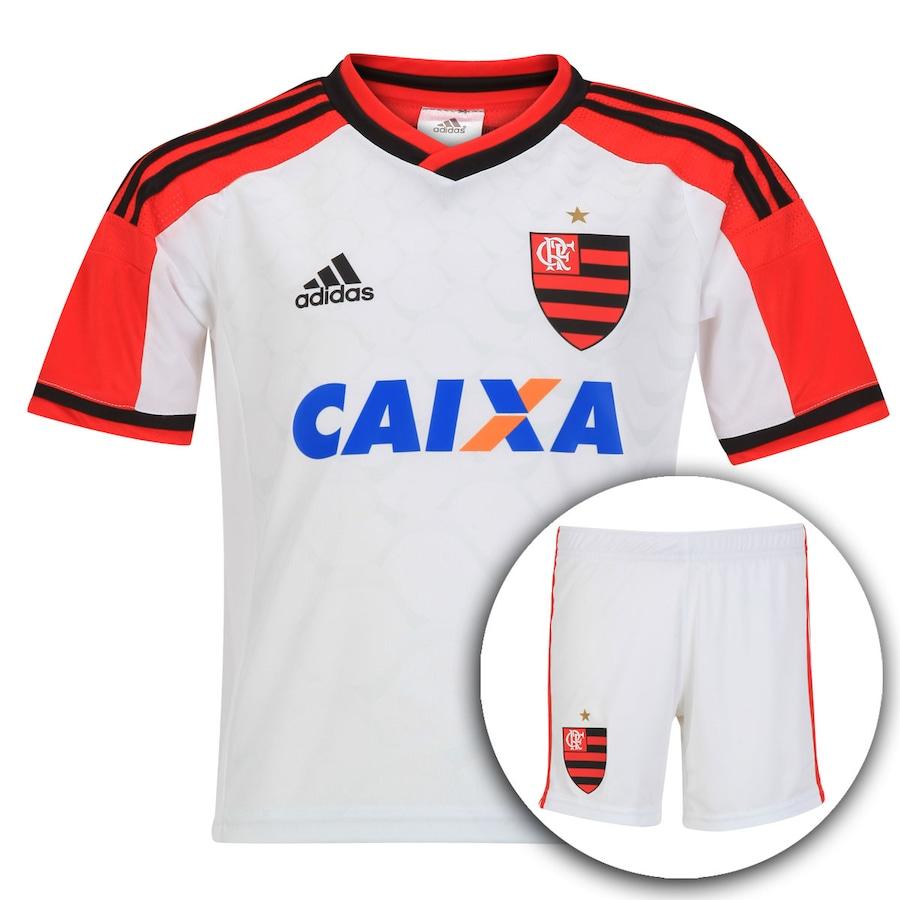 c0890af1df Kit Uniforme Adidas Flamengo II 2014 - Infantil