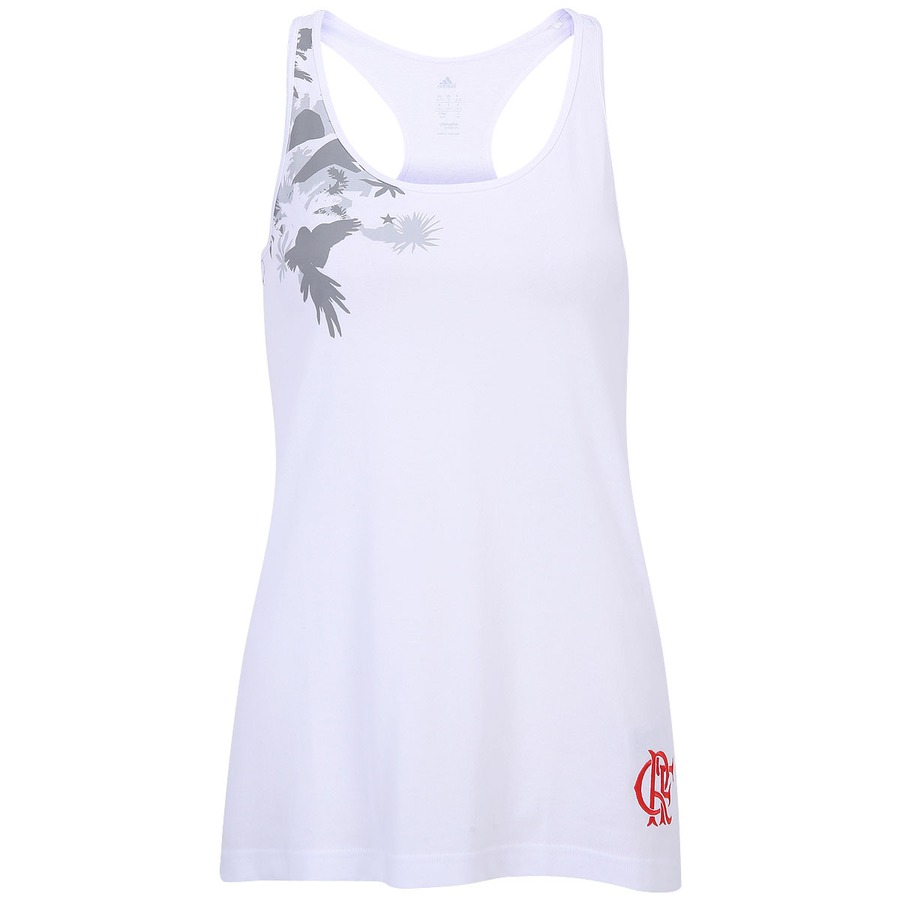 124100abd670a Camiseta Regata Adidas Flamengo Feminina