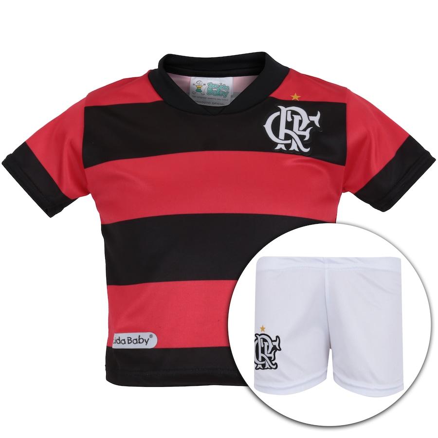 3900db7b3f Kit Uniforme Futebol Flamengo para Bebê - Infantil