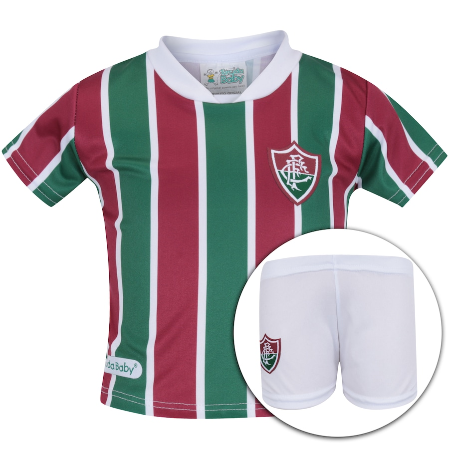 af0ac62d519a0 Kit Uniforme Futebol Fluminense para Bebê - Infantil