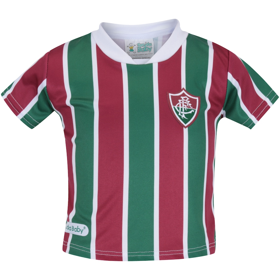 2e3cd923bb162 ... Infantil Kit de Uniforme de Futebol do Fluminense para Bebê  Camisa +  Calção ...